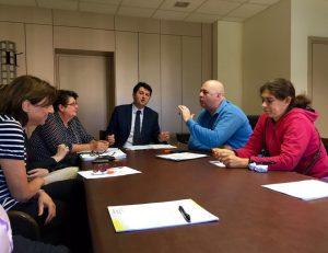 Andrea Zicchieri e il Tavolo in Regione