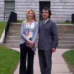 La dott.ssa Sabrina Paganoni e il nostro Silverio
